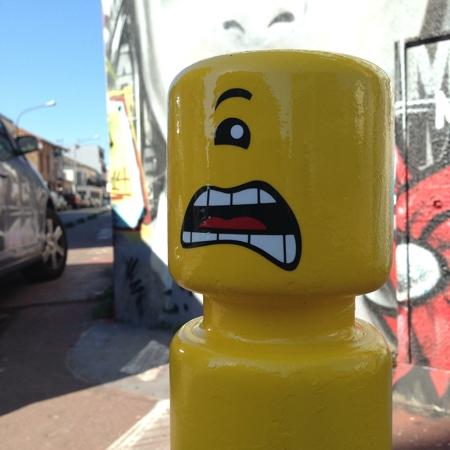 LEGO Minion Street Art