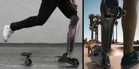 Prosthetic Leg Skateboard